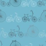 Seamless bicycle background Royalty Free Stock Photos