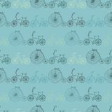 Seamless bicycle background Royalty Free Stock Photography