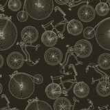 Seamless bicycle background Stock Photos