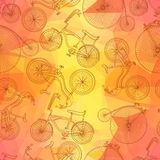 Seamless bicycle background Royalty Free Stock Photo