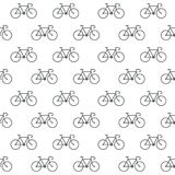 Seamless bicycle icons pattern on white background. Seamless bicycle icons pattern grey on white background Stock Photo