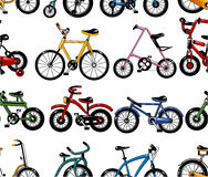 Seamless bicycle pattern Stock Photos