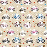 Seamless bicycle pattern. Vector drawing Royalty Free Stock Photos