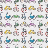 Seamless bicycle pattern. Cartoon vector illustration Stock Photography