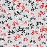 Seamless Bicycle Pattern Stock Image
