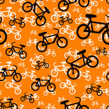 Seamless Bicycle Pattern Stock Image