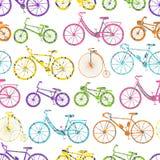 Seamless bicycle pattern stock illustration