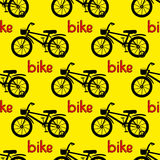 Seamless bicycle pattern. Royalty Free Stock Photography