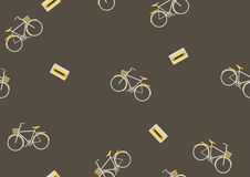 Seamless bicycle pattern,Retro,Vector illustration Stock Images