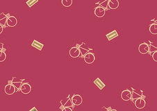 Seamless bicycle pattern,Spor tVector illustration royalty free illustration