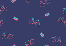Seamless bicycle pattern,Sport backgrounds Stock Image