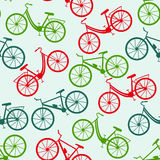 Seamless bicycle pattern. Vector illustration royalty free illustration