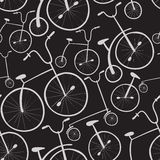 Seamless bicycles pattern. Bikes. Stock Photos