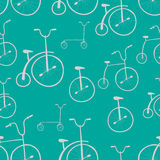 Seamless bicycles pattern. Bikes. Stock Images