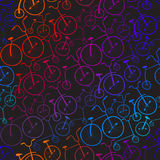 Seamless bicycles pattern. Bikes. Royalty Free Stock Photography