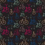Seamless bicycles pattern. Bikes. Stock Photography