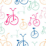 Seamless bicycles pattern. Bikes. Stock Photo