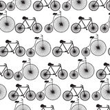 Seamless bicycles pattern Stock Photo