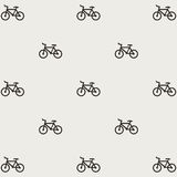 Seamless bicycles pattern. Stylish sporty print Stock Photo