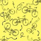 Seamless bicycles pattern. Stylish sporty print Royalty Free Stock Photos