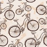 Seamless bicycles pattern. Stylish sporty print Royalty Free Stock Photos