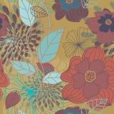 Seamless Big Flowers Pattern stock illustration