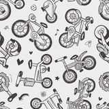 Seamless bike pattern Stock Image