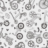 Seamless bike pattern. Cartoon vector illustration Royalty Free Stock Images