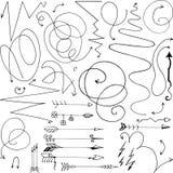 seamless bild för klotter för pilbakgrundsdesign Royaltyfria Bilder