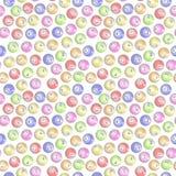 Seamless Bingo Balls background Stock Image