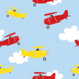 Seamless biplane background. Stock Photography