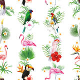 Seamless bird design pattern Stock Image
