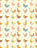 Seamless bird pattern Royalty Free Stock Image