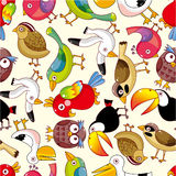 Seamless bird pattern. Vector drawing Stock Photography
