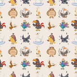 Seamless bird pattern Stock Photography