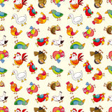 Seamless bird pattern Stock Photo