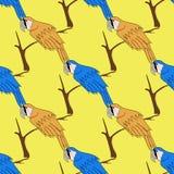 Seamless Bird Pattern Stock Images