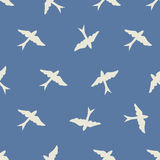 Seamless bird pattern Royalty Free Stock Photos