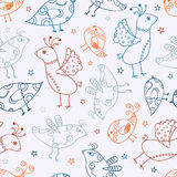 Seamless Bird Silhouette Pattern Royalty Free Stock Photo