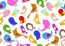 Seamless Bird Wallpaper. Cute cartoon seamless bird wallpaper Royalty Free Stock Photo