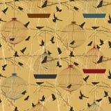 Seamless birdcage composition Stock Photo