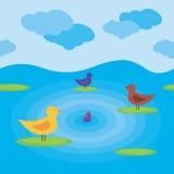 Seamless birds Royalty Free Stock Image