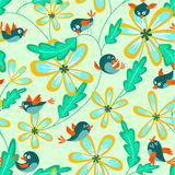 Seamless with birds Royalty Free Stock Image