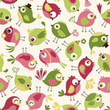 Seamless birds cartoon background Stock Photos