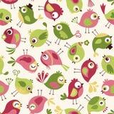 Seamless birds cartoon background Stock Photos