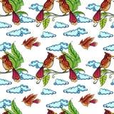 Seamless birds Royalty Free Stock Photo
