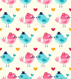 Seamless birds in love wallpaper Stock Photography