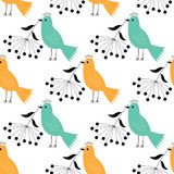 Seamless birds pattern Stock Images