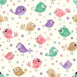 Seamless birds pattern Royalty Free Stock Image