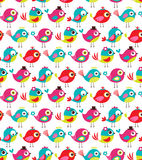 Seamless birds pattern Stock Photo